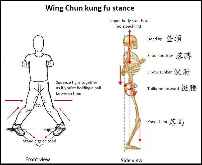 wing chun kung fu stance
